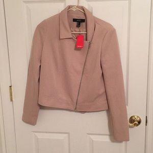 Light pink/tan colored lightweight jacket